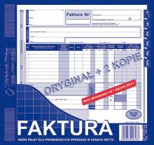 102-XE Faktura wzór pełny dla prowadzących sprzedaż w cenach netto