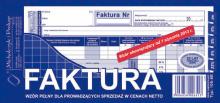 105-8E Faktura wzór pełny dla prowadzących sprzedaż w cenach netto
