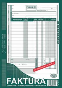 141-1E Faktura wzór pełny dla prowadzących sprzedaż w cenach brutto