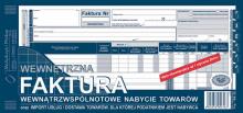 168-2E Dowód naliczenia podatku od towarów i usług (faktura wewn.) wewnątrzwspólnotowe nabycie towarów