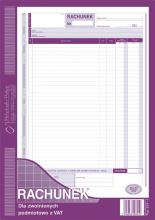 231-1 Rachunek dla zwolnionych podmiotowo z VAT
