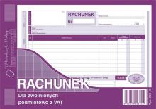 231-3 Rachunek dla zwolnionych podmiotowo z VAT