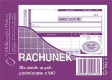 234-5 Rachunek dla zwolnionych podmiotowo z VAT