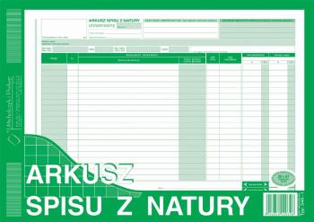 340-1 Arkusz spisu z natury (uniwersalny)