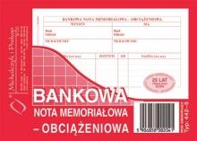 442-5 Bankowa nota memoriałowa - obciążeniowa