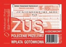454-5 ZUS - polecenie przelewu - wpłata gotówkowa - 4 odcinkowe