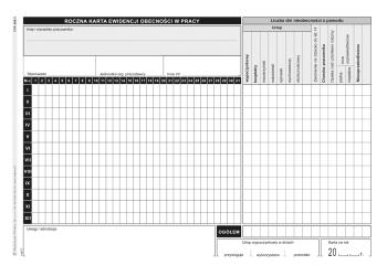 508-3 Roczna karta ewidencji obecności w pracy