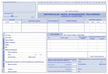 520-A Indywidualne karty wynagrodzeń pracowników jednostek budżetowych