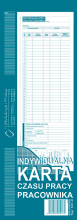 531-0 Indywidualna karta czasu pracy pracownika