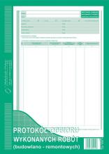 606-1 Protokół odbioru wykonanych robót (budowlano-remontowych)
