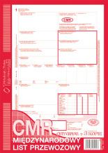 800-1 CMR Międzynarodowy list przewozowy