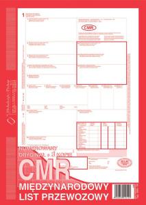 800-1N CMR Międzynarodowy list przewozowy (numerowany)