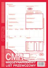 800-3 CMR Międzynarodowy list przewozowy