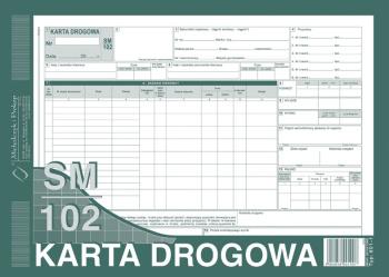 801-1N Karta drogowa sm/102 numerowana (samochód ciężarowy)