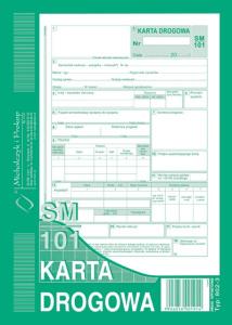 802-3N Karta drogowa sm/101 numerowana (samochód osobowy)