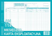 803-1 Miesięczna karta eksploatacyjna sm/114 (samochód ciężarowy)