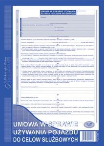 810-1 Umowa w sparwie używania pojazdu do celów służbowych
