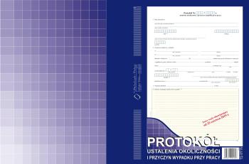 871-1N Protokół ustalenia okoliczności i przyczyn wypadku przy pracy