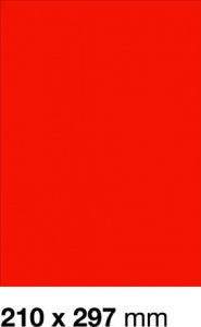 E-325-C Etykieta 210 x 297 mm czerwony