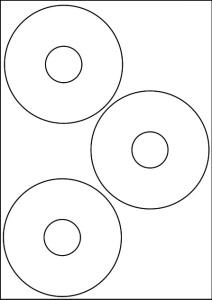 E-CD-01 Etykieta na CD 117 mm