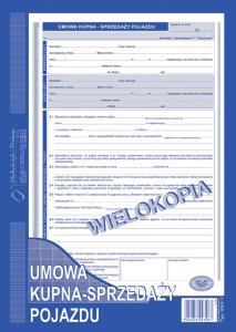 650-1 Umowa kupna - sprzedaży pojazdu
