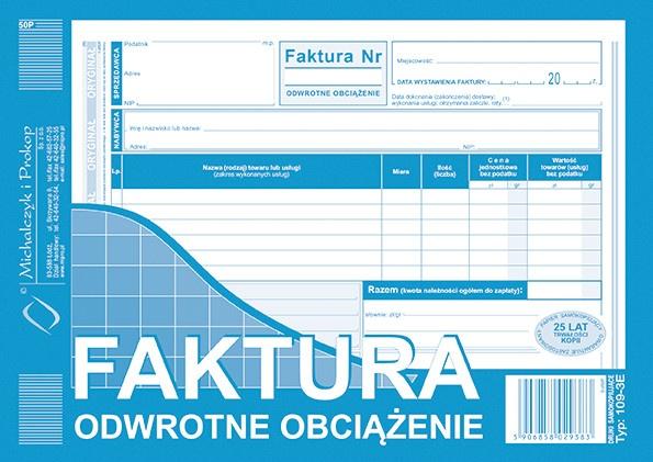 Michalczyk I Prokop Druk Faktury Odwrotne Obciążenie
